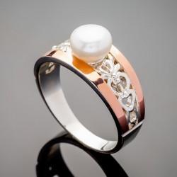 Серебряное кольцо Эрика с жемчугом