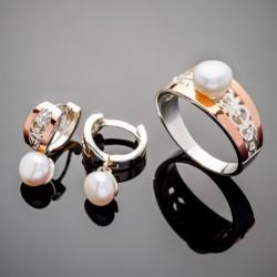 Набор серебряных украшений Эрика с жемчугом