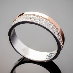 Женское серебряное кольцо Рима