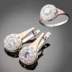 Серебряный набор Олеся - кольцо и серьги