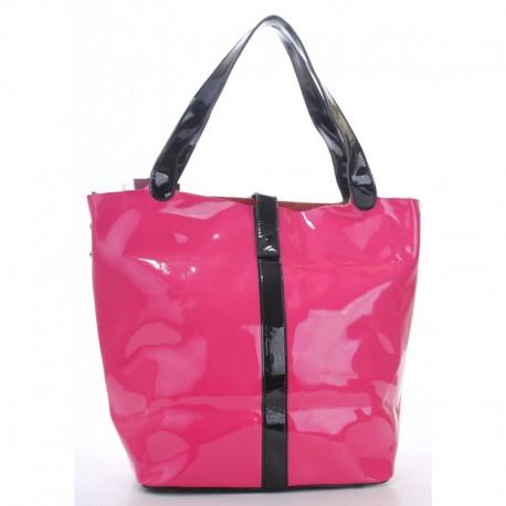 Розовая сумка шоппер Fabbiano