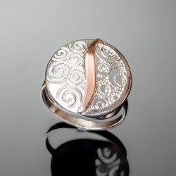 Серебряное кольцо Волна