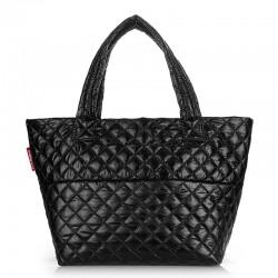 Стеганная сумка Poolparty BROADWAY (черный)