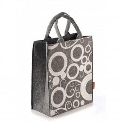 Красивая сумка из войлока ПУЗЫРИ, открытая
