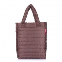 Стеганая сумка Poolparty PUFFY (коричневый)