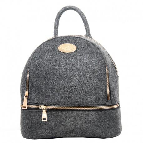 Стильный рюкзак из войлока на молнии