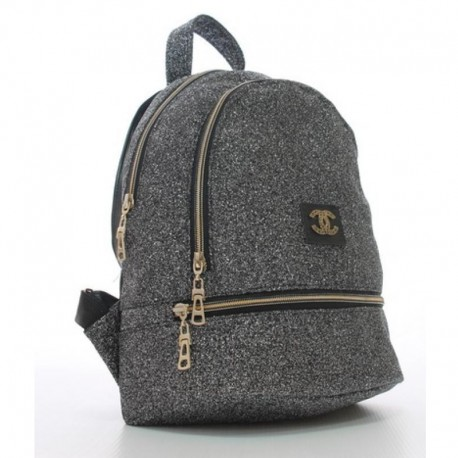 Женский рюкзак с блестками