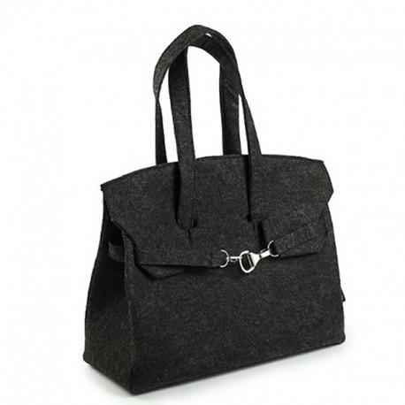 Женская сумка из войлока с декором