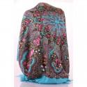 Шерстяной платок в павлопосадском стиле