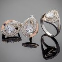 Набор серебряных украшений с золотой пластиной Грейс