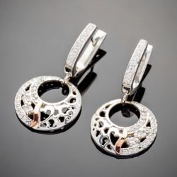 Серебряные серьги Лайма