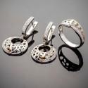 Серебряные украшения Лайма с золотом