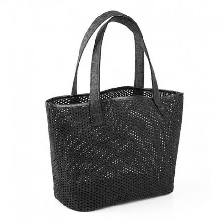 Войлочная женская сумка с перфорацией