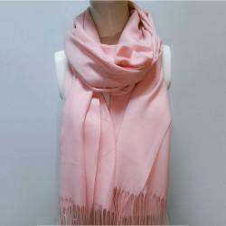 Палантин с бахромой, кашемир (розовый)