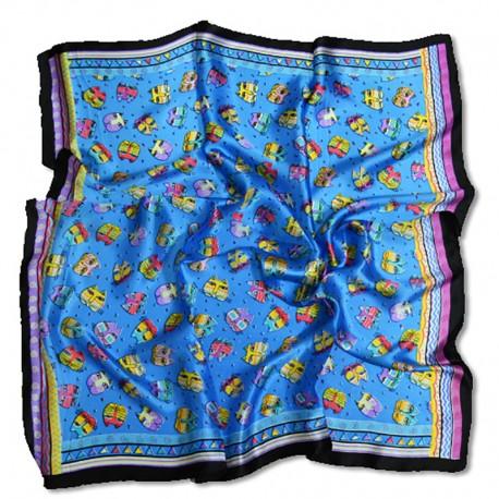 Шелковый платок (синий)