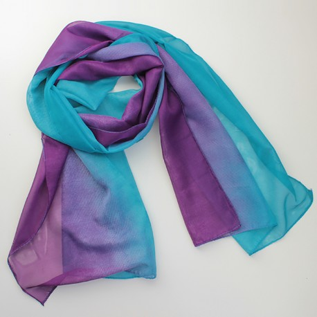 Двухцветный шарф с градиентом (фиолетовый)
