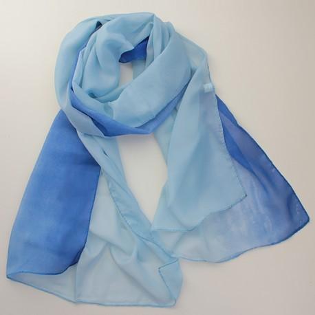 Двухцветный шарф с градиентом (голубой)