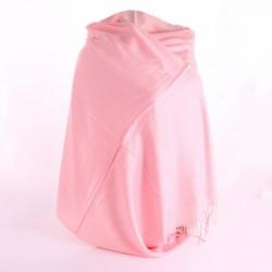 Светлый кашемировый палантин (розовый)