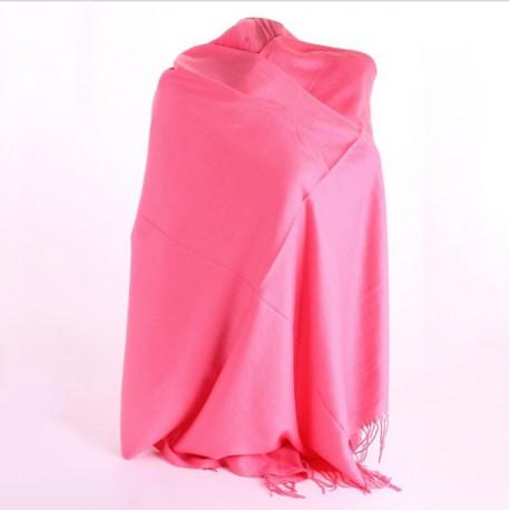 Осенний кашемировый палантин (розовый)
