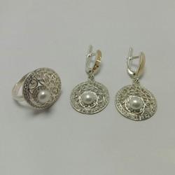 Серебряный набор украшений Арина