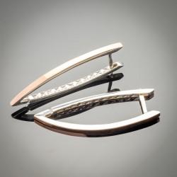 Длинные серебряные серьги Стрела 45 мм