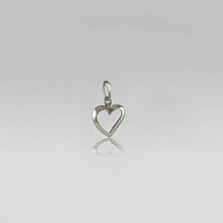 Серебряный кулон Сердечко маленькое