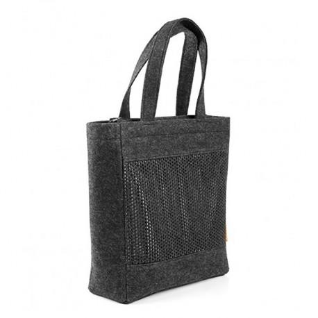 Прямая войлочная сумка с перфорацией