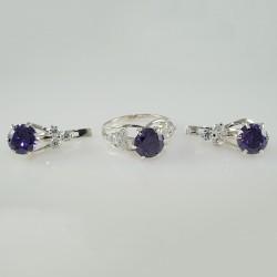 Серебряные серьги и кольцо Альфея