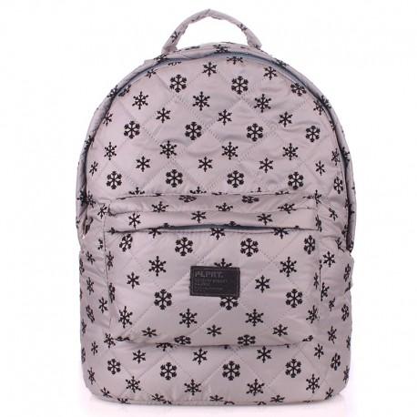 Стеганый рюкзак Poolparty Snowflakes серого цвета (серый)