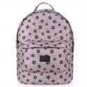 Стеганый рюкзак Poolparty Snowflakes серого цвета