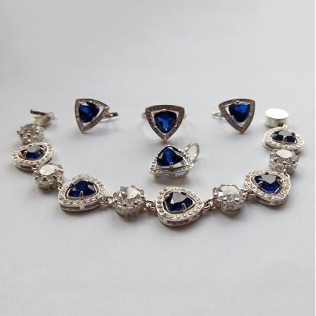 Комплект украшений Тайна (синий)