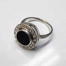 Клео - серебряное кольцо с ониксом
