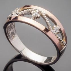 Кольцо Эстель из серебра и золота