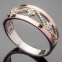 Ажурное кольцо Эстель из серебра и золота