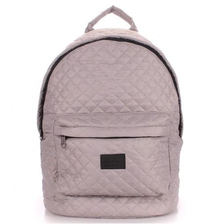Стильный стеганый рюкзак Poolparty, плащевка (серый)