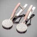Удлиненные серьги Лия из серебра и золота