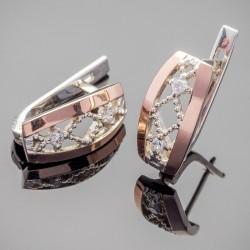 Лонда - серебряные серьги