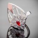 Серебряное кольцо Карнавал в виде цветка