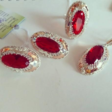 Серебряные украшения Сара с кулоном