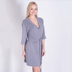 Хлопчатобумажный халат (серый)