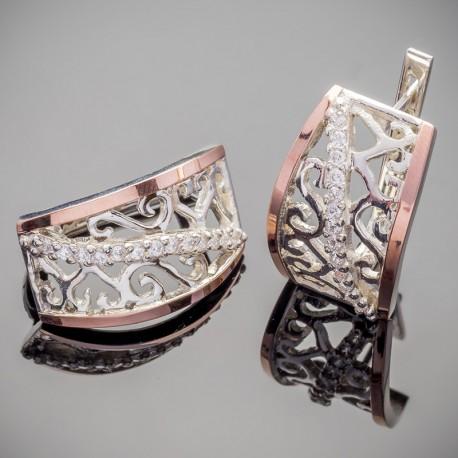 Зарина - женские серебряные серьги
