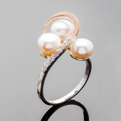 Серебряное кольцо Роса