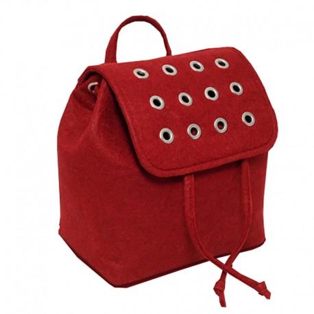 Войлочный рюкзак (красный)