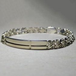 Серебряный браслет на цепочке бисмарк