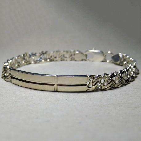 Серебряный браслет (бисмарк)