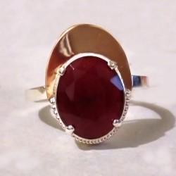 Радмира - серебряное кольцо (малиновый)