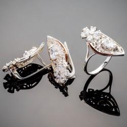 Набор серебряных украшений Герда