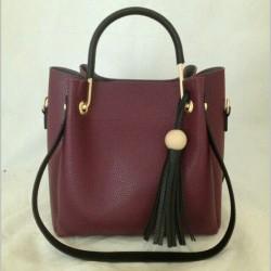 Женскя сумка шоппер черным ремнем