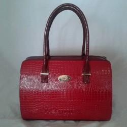 Женская сумка саквояж под рептилию