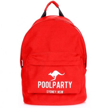 Фирменный рюкзак Poolparty BACKPACK KANGAROO, хлопок